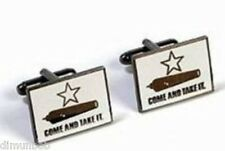 "Texas Historical Gonzales Flag Cuff Links ""Come and Take It"" Free Shipping!"