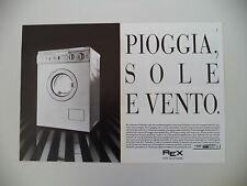 advertising Pubblicità 1987 LAVATRICE REX JETSYSTEM TURBODRY