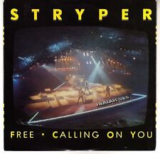 STRYPER: FREE / CALLING ON YOU 45 RPM MICHAEL SWEET OZ FOX HARD ROCK
