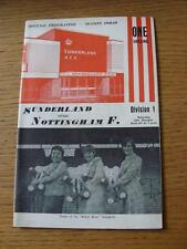 12/10/1968 Sunderland v Nottingham Forest  (Item has no apparent faults)