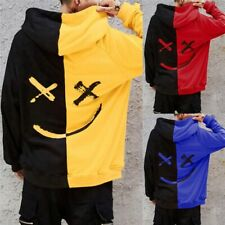 Long Sleeve Teens Hoodies Streetwear Unisex Smiling Face Fashion Print Two Color