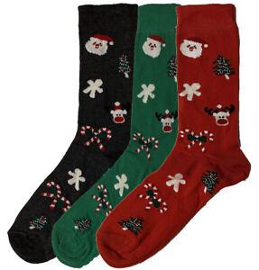 Mens Ladies Novelty Christmas Xmas Cotton Fun Socks Stocking Filler 6 Pair Pack