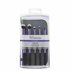 Real Techniques Starter Set Hand Cut Hair Deign Makeup Brush Set Eyeshadow Brush
