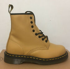 DR. MARTENS 1460 TAN SOFTY T  LEATHER  BOOTS SIZE UK 9