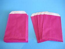 25 Flachbeutel Papiertüten kräftiges Papier bunt pink 7 x 12 cm NEU