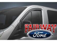 15 thru 17 Transit Low Roof OEM Ford Side Window Deflector Rain Guard Kit 2-pc