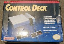 BOXED Nintendo NES Control Deck Gray Console, CLEANED AND TESTED