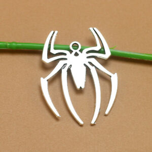 15pcs Tibetan Silver Spider Charm Pendant Bead Jewellery Making 39*30mm