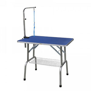 Go Pet Club Blue Stainless Steel/Wood/Aluminum Heavy Duty Pet Grooming Table