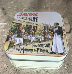 französische Rosen Seife mit Olivenöl Cafe Bistro Trattoria Pariser Straßencafe