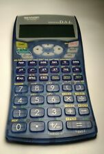 Sharp El-531W Scientific Calculator Advanced Dal Transparent Blue w/Cover