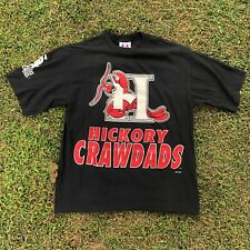 Vintage 90's Logo Athletic Hickory Crawdads Minor League Shirt Size Large