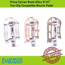 """MKS Prime Sylvan Road 9/16"""" Alloy Pedal Toe Clip Compatible Flat Platform Pedal"""