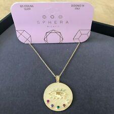 "Sphera Milano Large Evil Pendant Necklace NWT 18"""