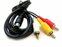 STEREO AV TV VIDEO LEAD CABLE for SEGA MEGA DRIVE 2 & 3 GENESIS RF Replacement