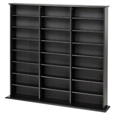DVD Storage Rack Organizer Cabinet CD VHS Blu-Ray Media Large Wall Tower Shelf
