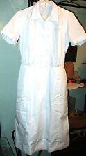 Sale NEW Womens  Nurse Scrub Dress / Waitress Uniform sz 18  White Cotton Blend