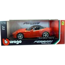 Burago Ferrari California T  Red Diecast Model Car 1:18 Scale in Window Box