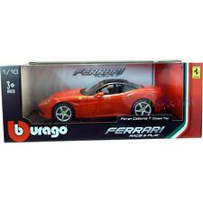 BURAGO FERRARI california t rouge cours moulé modèle de voiture 1:18 échelle dans boîte de fenêtre