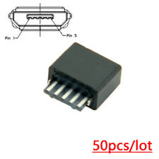 Micro USB Type B Female 5 Pin Jack Port Socket Connector Solder Type  50Pcs
