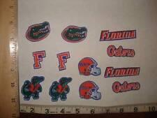 12 Florida Gators Fabric Applique Iron On Ons Set 1