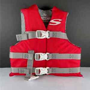 Stearns Youth Life Ski Vest Style 30 - 50 lbs. Jacket - Red & Gray