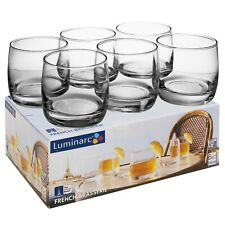 6 PCS 310ml Luminarc Short Tumblers Drinking Whiskey Glasses Juice Gift Box Set