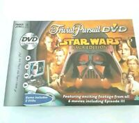 TRIVIAL PURSUIT STAR WARS SAGA EDITION DVD BOARD GAME - footage from 6 movies!
