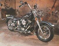 Vintage Harley Davidson Black Motorcycle Wall Decor Art Print Picture (8x10)