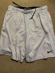 Men's Nike Training Shorts Aj8096-100 White Black XL