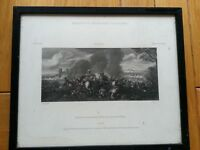 ANTIQUE PRINT 1816 MARQUIS OF STAFFORD'S COLLECTION A BATTLE PIECE  W M CRAIG