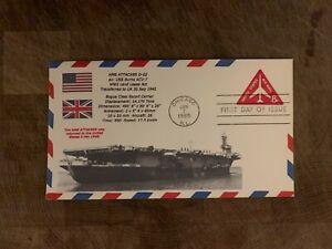 USA 1965 NAVY COVER USCS BOGUE ESCORT CARRIER HMS ATTACKER USS BURNS