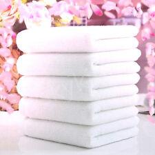 1PC Soft 100% Cotton 73*33cm Hotel Bath Towel Washcloths Hand Towels White VXV