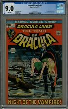 TOMB OF DRACULA #1 CGC 9.0 1ST DRACULA (IN MARVEL) WHITE PAGES!!! 1972