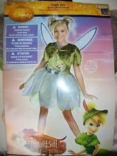 NEW Disney Tinkerbell Tink Lost Treasure Girl Costume size 4-6x Dress Up Deluxe