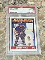 1991 Topps Brett Hull #516 PSA 10 GEM MINT St Louis Blues HOF UD Hart Trophy