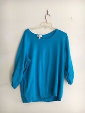 DRESS BARN TURQUOISE SWEATER TOP BLOUSE SIZE 1X WOMAN WINTER RN 63264