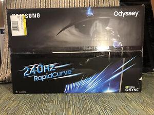 """Samsung Odyssey Curved Gaming Monitor 240Hz 27"""" FHD GSync(C27RG50FQN) CRG5 1080p"""