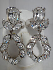 MONET GORGEOUS CHANDELIER SPARKING CRYSTAL EVENING WEDDING WOMAN EARRINGS #629