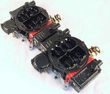 650 670 CFM HOLLEY TUNNEL RAM CARBS POWDERCOAT BLACK-RED PAIR 2X4 DUAL QUAD