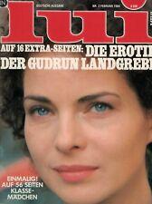 Lui 2,02/1984 Februar,GUDRUN LANDGREBE auf 16 Seiten, GUTER ZUSTAND!