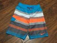 Nike Boys Striped Swim Board Shorts Trunks Medium NESS8871