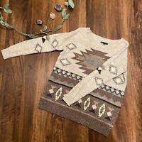 American Eagle Western Print Wool Sweater Medium EUC