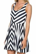 Clubwear Skater Striped Dresses for Women