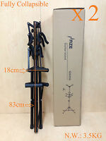 Two (x2) Foldable Haze GS030 Metal-Rubber Structure,Tripod-Stand 6 Guitar Stand