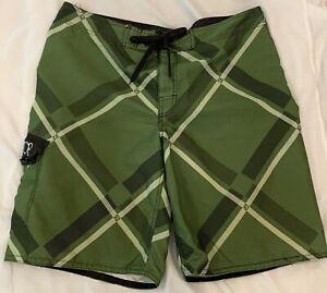 OP Ocean Pacific Size 38 Swim Trunks Shorts Green