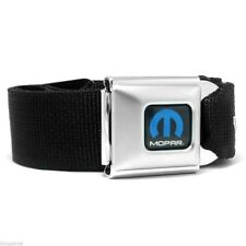 Mopar Blue Logo Licensed Black Seatbelt Authentic Seat Belt Style Buckle Down