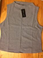 New Look Size 18 Smart Top Vest Grey BNWT With Tags Ribbed