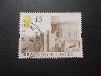 GB 1992 Castles Stamps~£5 Brown Value ~Very Fine Used~C~UK Seller