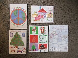 LOT #1 OF FIVE DIAMOND RIO CHRISTMAS CARDS-SENT TO COUNTRY RADIO EXCL.COND.RARE